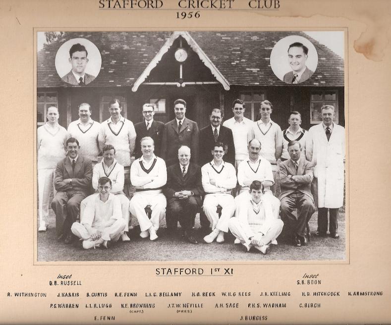 Stafford CC 1st XI 1956