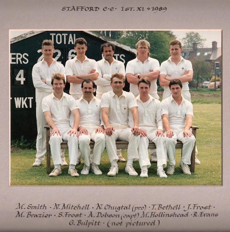 Stafford CC 1st XI 1989