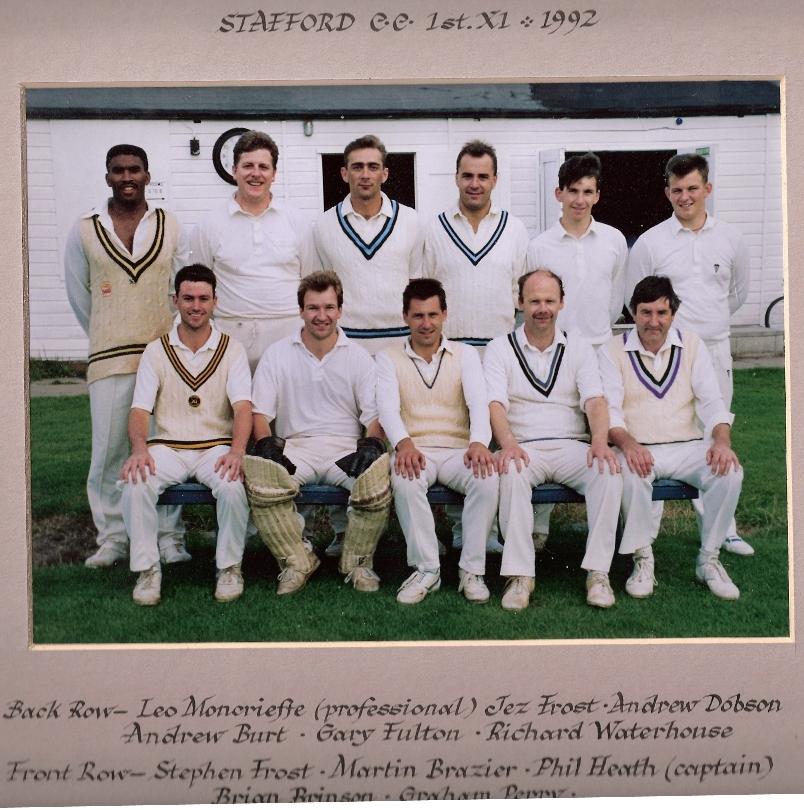 Stafford CC 1st XI 1992