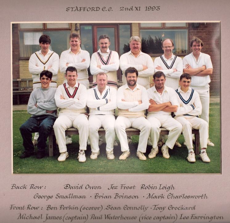 Stafford CC 2nd XI 1993