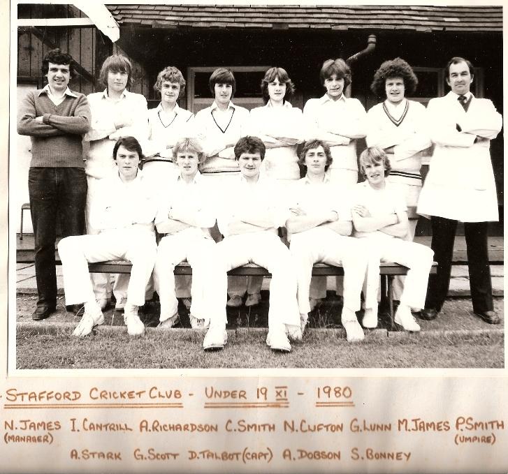 Stafford CC u19s 1980
