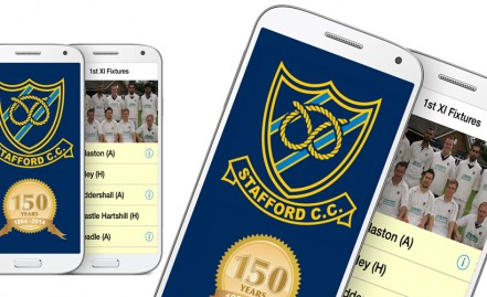 Stafford Cricket Club  App for Android Smartphones